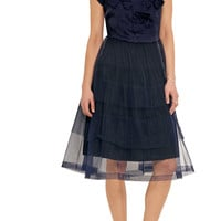 Bow-embellished taffeta and tulle dress | Comme des Garçons GIRL | US | THE OUTNET