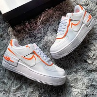 NIKE Air Force 1 Low New fashion hook women shoes White