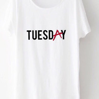 Pretty Little Liars Tuesday Shirt/ PLL - Aria - Spencer - Hanna - Emily