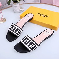 Fendi Women's Leather Fashion Sandals