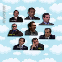 """Michael Scott Quotes Sticker Pack 8 ct 2 x 1.5"""" - The Office Tv - Office Michael - Office Tv Show - Michael Scott - The Office Tv Gift"""
