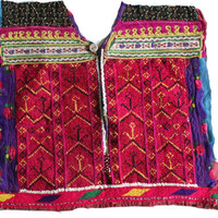 Vintage Beautiful Hand Embroidery and Beads Work Neck Yoke / A Fabric to Embellish your Clothing and Interior