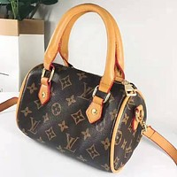 LV Louis Vuitton Popular Women Leather Classic Handbag Tote Crossbody Satchel Shoulder Bag