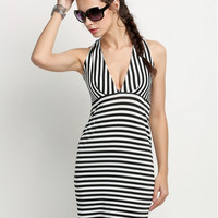 Striped Slim Dress 11818