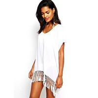 2017 Swimwear Beach Cover Up Dress Sarong Bathing Suit Coverups Beach tunic Cover-Ups Swimsuit Pareo Dec07