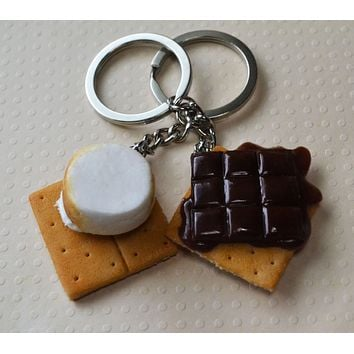 S'mores BFF friendship Key Chains