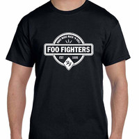 Foo Fighter Logo Hand Made Rock And Roll Est 1995 Mens T Shirt