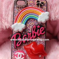 My Favorite: Bling Bling Rhinestone Colorful Sunshine,Rainbow & Red Lips Sexy Lips iPhone 4 iPhone 4S Case Phone 5 Case