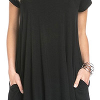 Black Bamboo Jersey T-Shirt Dress