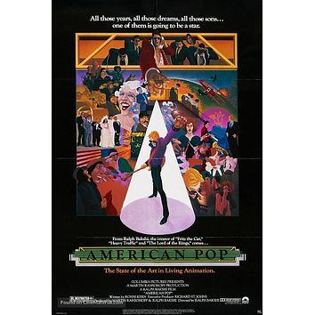 American Pop Poster//American Pop Movie Poster//Movie Poster//Poster Reprint