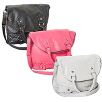 Rampage Quilted Fold-Over Hobo Handbag in 3 Colors