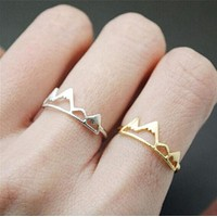 Jisensp New Fashion Open Mountain Rings for Women Birthday Gift R171