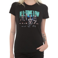All Time Low Band Photo Girls T-Shirt 2XL