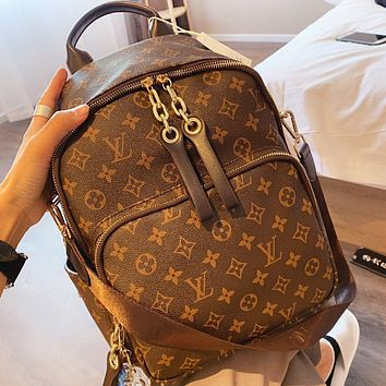 Louis Vuitton LV Fashion New Monogram Print Backpack Bag Women