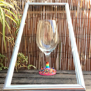 Rainbow Spectacular Flair Wine Glass