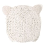 With Love From CA Cat Ear Beanie - Womens Hat - White - One