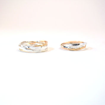 his and hers ring set unique wedding from hatch co epic