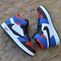 """Air Jordan"" Unisex Casual Fashion Multicolor High Help Plate Shoes Couple Sneakers"