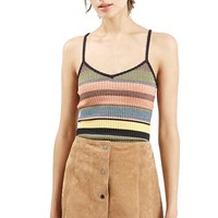 Women's Topshop Chevron Stripe V-Neck Camisole,