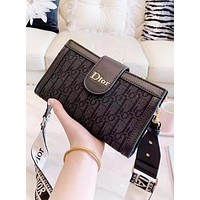 DIOR Fashion New More Letter Leather Shopping Leisure Crossbody Bag Shoulder Bag Women Black
