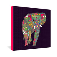 DENY Designs Home Accessories   Sharon Turner Painted Elephant Gallery Wrapped Canvas