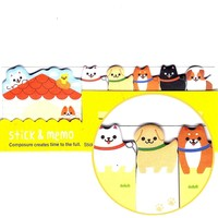 Adorable Puppy Dog House Animal Memo Pad Post-it Index Sticky Tab Bookmarks