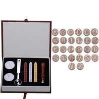 26 English Alphabets Metal Sealing Wax Clear Stamps Set  Dia 25mm Stamps Wax Seals  Delicate Cuprum Stamps For Kids Adults