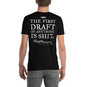 The First Draft of Anything Hemingway Quote Short-Sleeve Unisex T-Shirt