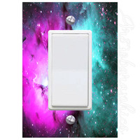 Solar System Light Switch Cover with Decal Outer Space Kids Room Décor LS23