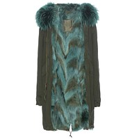 Mr and Mrs Italy Parka Coyote Green Parka