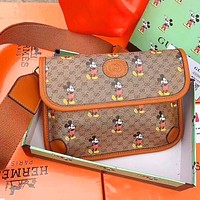 Gucci bag Net Red Messenger Bag 2020 New Mickey Presbyopia Chest Bag Retro Trend Chest Bag Fashion Small Backpack Khkai