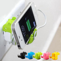 3pcs a lot!green Mouse Stand and White Usb cable cord and usb charger
