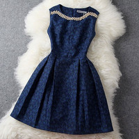 Graceful Rhinestone Beading Embroidered Dress & Party Dresses