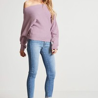 Knit Off-the-Shoulder Sweater
