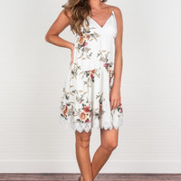 Better Than Bouquet Spaghetti Strap Dress, Ivory