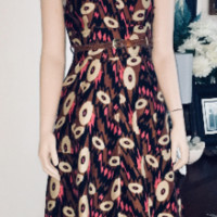 Abstract A-Line Dress, Frock by Tracy Reese, Colorful Dress, Antique Alchemy | eBay