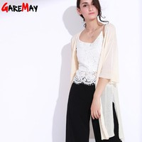 Women Summer Knitted Cardigan Loose Capes Long Cardigan Ladies Poncho Female