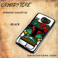 Boba Fett Hello Kitty Star Wars Black White Snap On 3D For Samsung Galaxy S6 Case