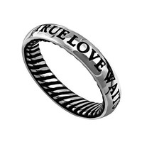 Men's Traditional Band Ring - True Love Waits | Mardel