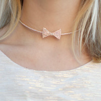 Bow Choker Necklace