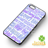 Best Song Ever 1D One Direction Lyric - zaiii for  iPhone 6S case, iPhone 5s case, iPhone 6 case, iPhone 4S, Samsung S6 Edge