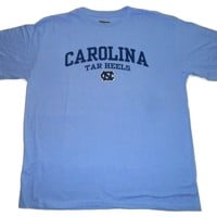 Majestic UNC North Carolina Tar Heels Big and Tall Logo T-Shirt Carolina Blue