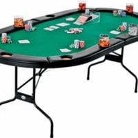 Portable Sturdy Folding Poker Game Card Table with Drink Holders
