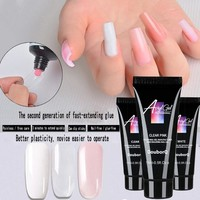 1pc Nail Extend Builder Poly Gel Remover Slip Solution Nail Art Design Acrylic French Nail Tip Gum Jelly Poly Gel Slip Liquid