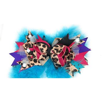 Girls Over the Top Marabou Hair Bows