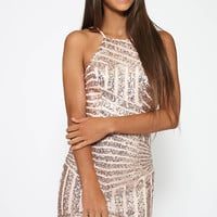 Urban Square Dress - Beige
