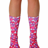 Melting Hearts Crew Socks