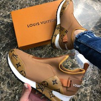 Louis Vuitton LV Woman Fashion Run Away Sneaker Shoes
