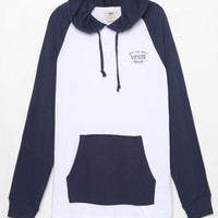 Vans Relston Hooded White and Blue Long Sleeve Henley T-Shirt at PacSun.com