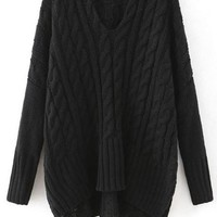 Cupshe Doll Of Fame Twist Casual Sweater